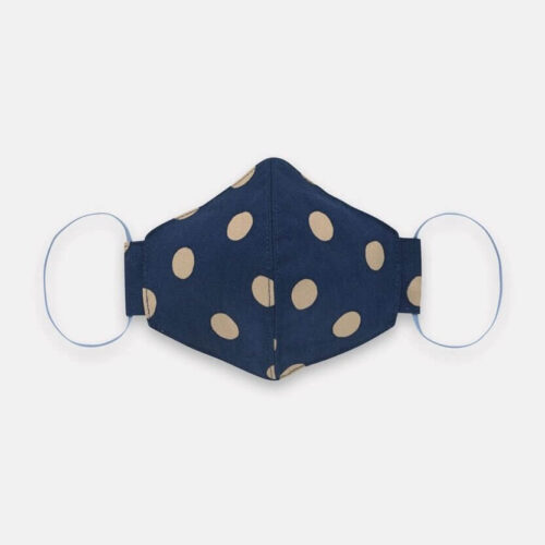 Cath Kidston Adult Face Covering: Button Spot Navy