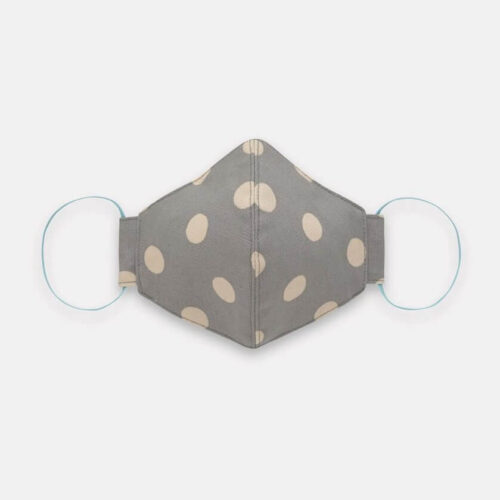 Cath Kidston Adult Face Covering: Button Spot Grey