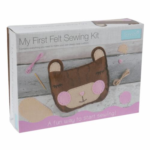 My First Sewing Kit: Felt Teddy Bear Cushion