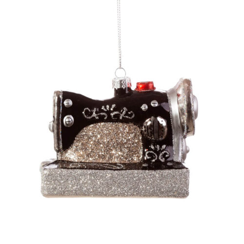 Retro Sewing Machine Shaped Bauble Christmas Decoration