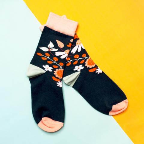 Eden Navy Socks
