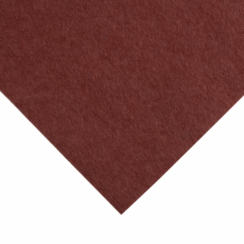 12 x 12 inch Wool Felt Square - Russet