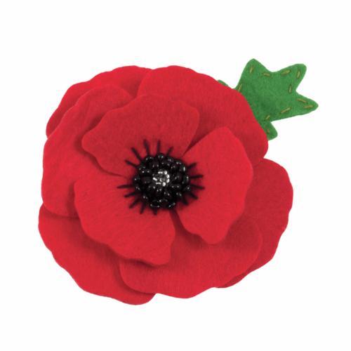 Felt Decoration Kit: Poppy Brooch
