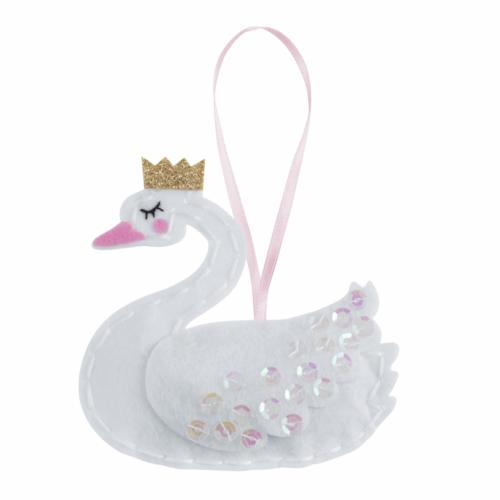 Felt Decoration Kit: Swan with Crown