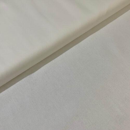 Plain Ivory Cotton Fabric - Fat Quarter