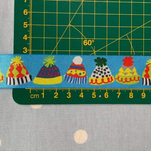 Bobble Hat Ribbon 25mm Wide: 1 Metre