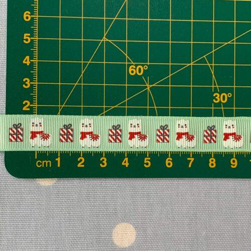 Christmas Llamas Grosgrain Ribbon: 15mm Wide: 1 Metre