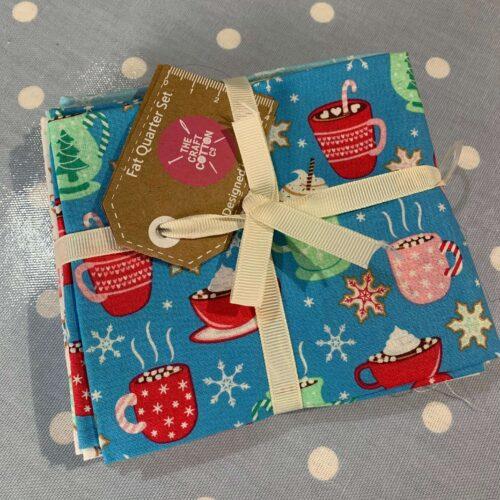 Christmas Hot Chocolate Cotton Fabric - Fat Quarter Bundle