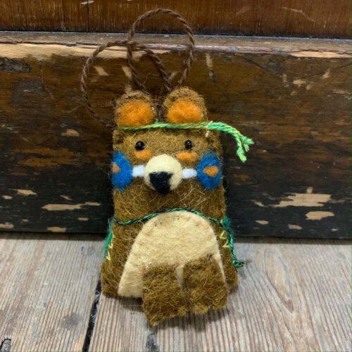 Felt Navaho Bear Christmas Decoration