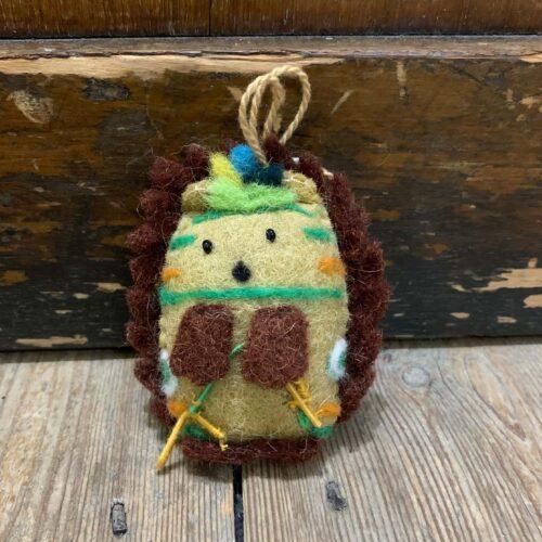 Felt Navaho Hedgehog Christmas Decoration
