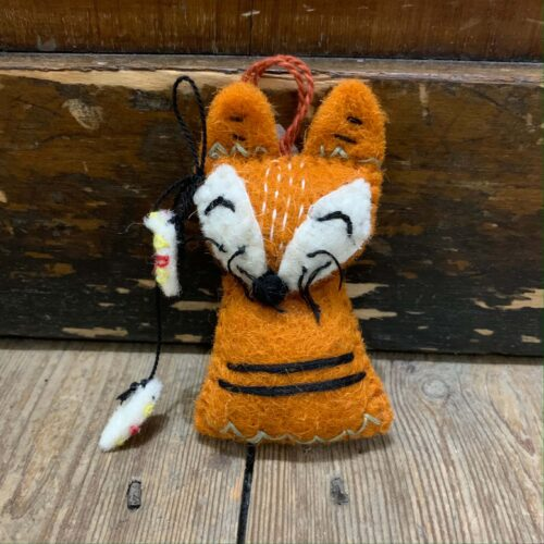 Felt Navaho Fox Christmas Decoration