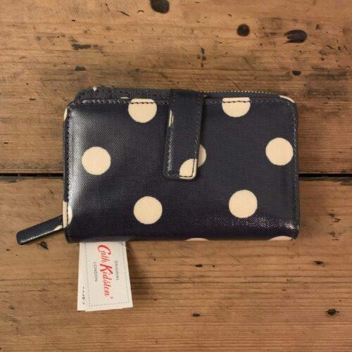 Cath Kidston Button Spot Charcoal Folded Zip Wallet