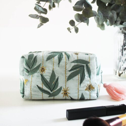 Eden Velvet Cosmetic Bag