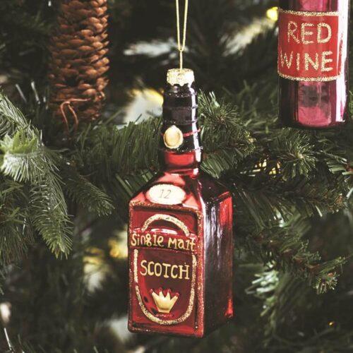 Lets Celebrate Scotch Bottle Bauble Christmas Decoration