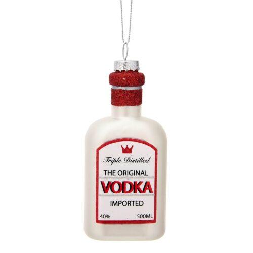 Vodka Shaped Bauble Christmas Decoration