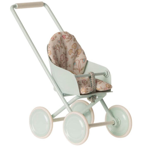 Maileg Stroller Micro: Sky Blue