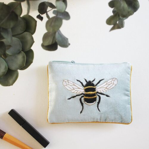 Eden Velvet Pouch with Bee Design