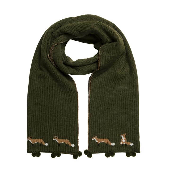 Sophie Allport Foxes Knitted Scarf