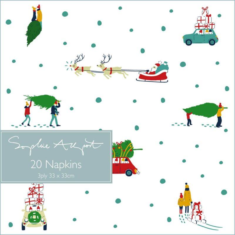 Sophie Allport Home for Christmas Paper Napkins