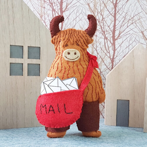 Corinne Lapierre Felt Angus the Postman Craft Kit
