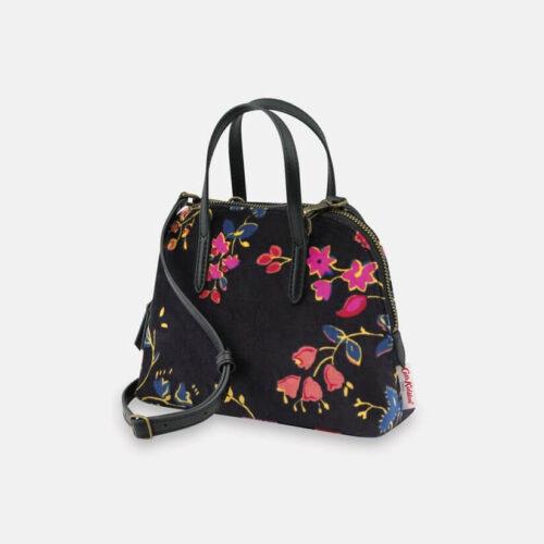 Cath Kidston Millfield Rose Velvet Small Slim Bowling Bag