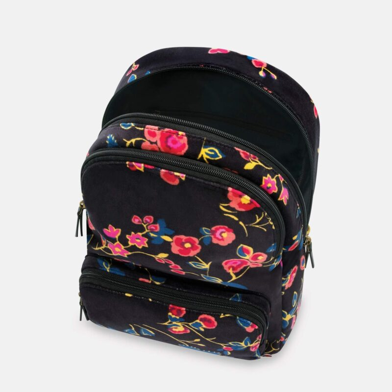 Cath Kidston Millfield Rose Velvet Backpack