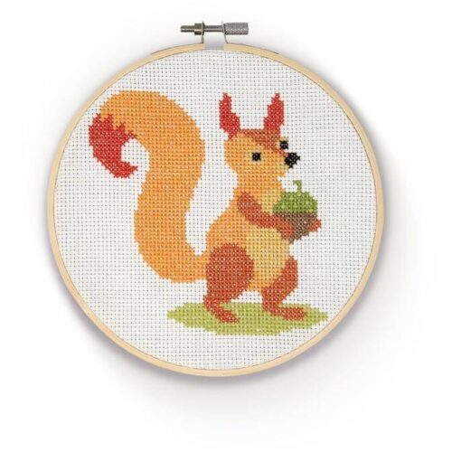 Squirrel Cross Stitch Kit
