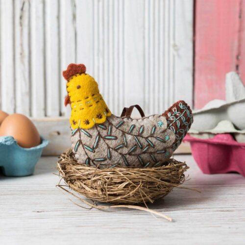 Corinne Lapierre Felt French Hen Mini Kit