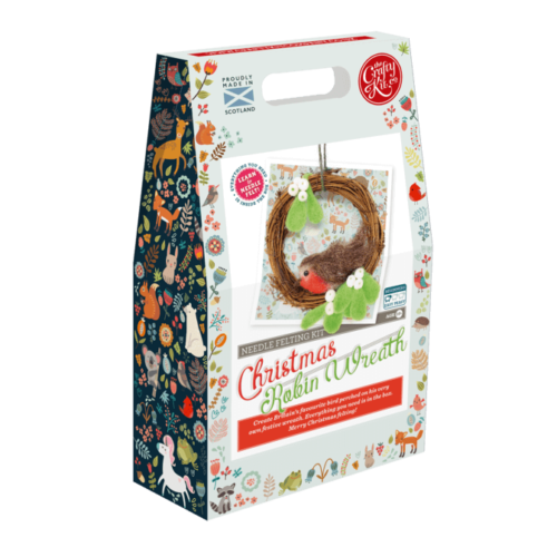 Christmas Robin Wreath Needle Felting Kit
