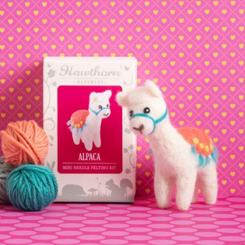Alpaca Mini Needle Felting Kit