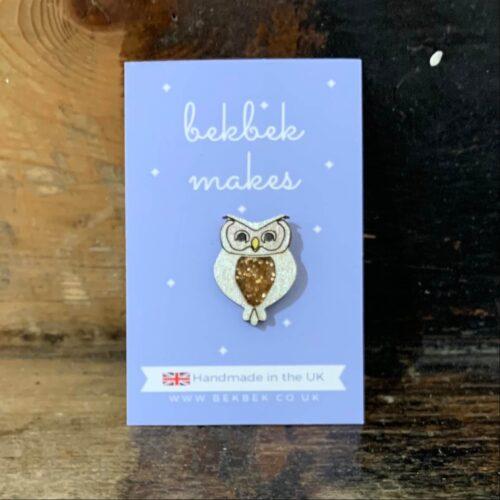 Bekbek Makes Owl Pin Brooch