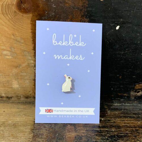 Bekbek Makes Tiny Bunny Pin Brooch