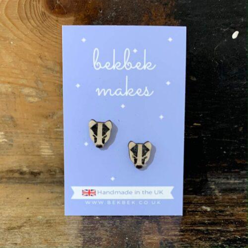 Bekbek Makes Badger Face Earrings