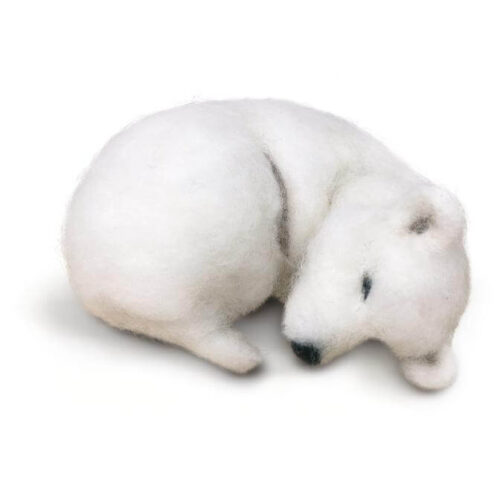 Snoozy Polar Bear Needle Felting Kit