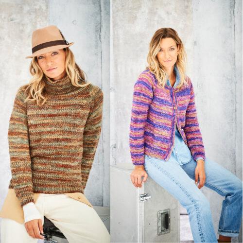 Stylecraft Amor Aran Knitting Pattern 9798