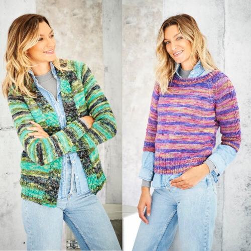 Stylecraft Amor Aran Knitting Pattern 9800