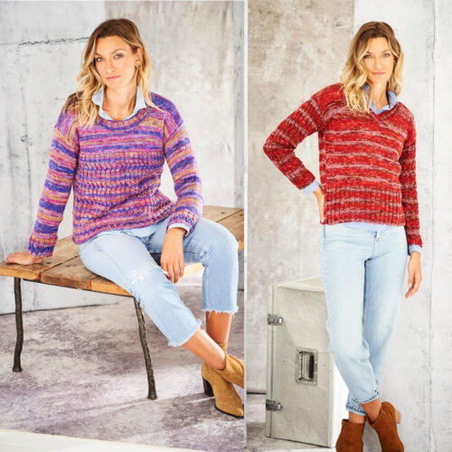 Stylecraft Amor Aran Knitting Pattern 9801