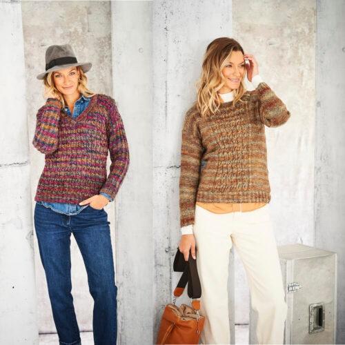 Stylecraft Amor Aran Knitting Pattern 9802