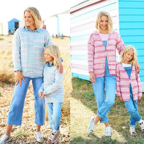 Stylecraft You & Me DK Knitting Pattern 9821