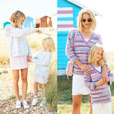 Stylecraft You & Me DK Knitting Pattern 9823