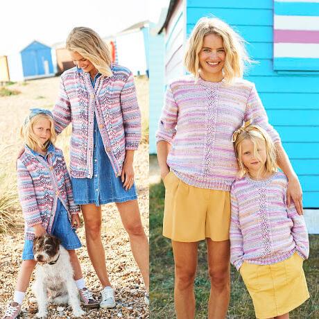 Stylecraft You & Me DK Knitting Pattern 9824