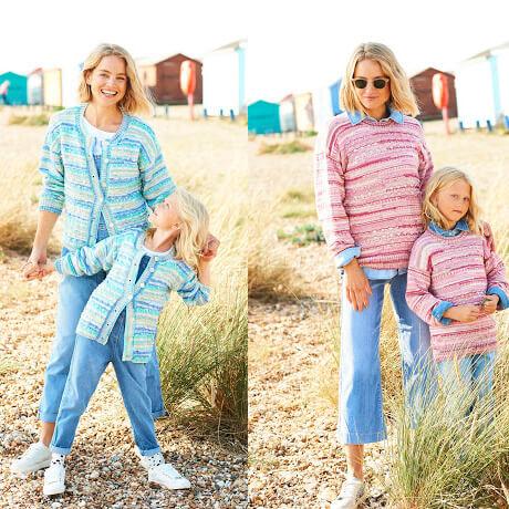 Stylecraft You & Me DK Knitting Pattern 9825
