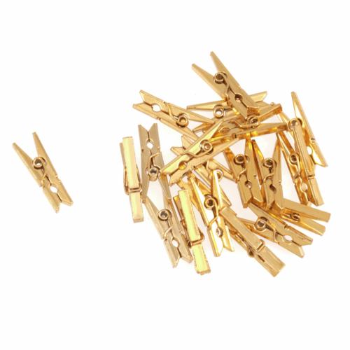Metallic Pegs: Gold