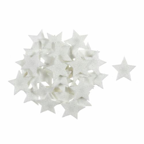 Craft Embellishment: Glitter Stars: White