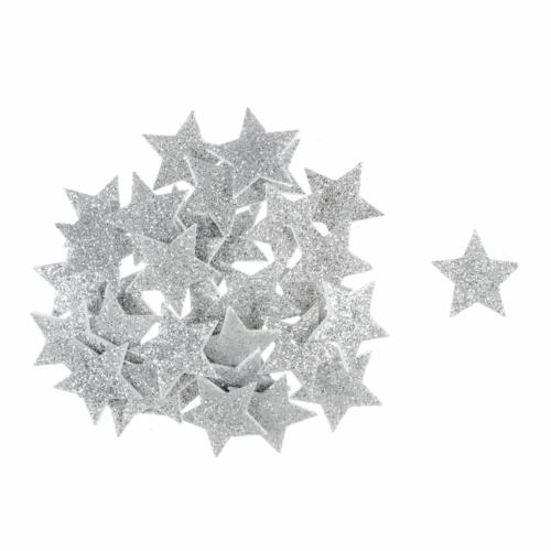 Craft Embellishment: Glitter Stars: Silver