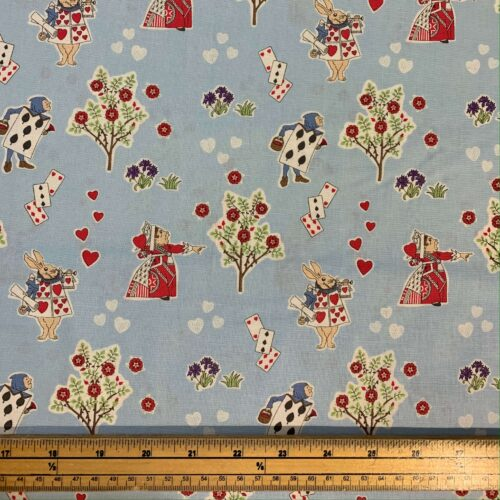 Alice in Wonderland Cotton Fabric: Queen of Hearts - £10 per metre