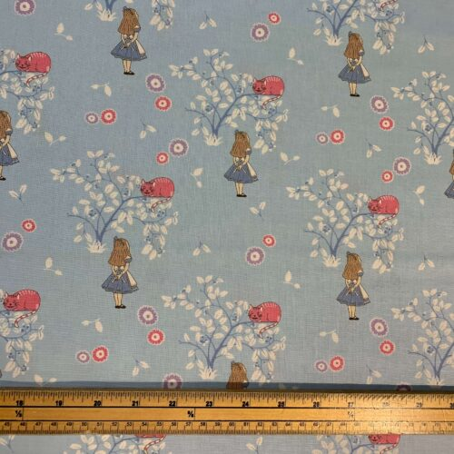 Alice in Wonderland Cotton Fabric: Cheshire Cat - £10 per metre