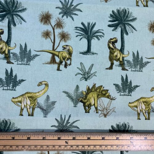 Age of the Dinosaur Cotton Fabric: Foliage - £9 per metre