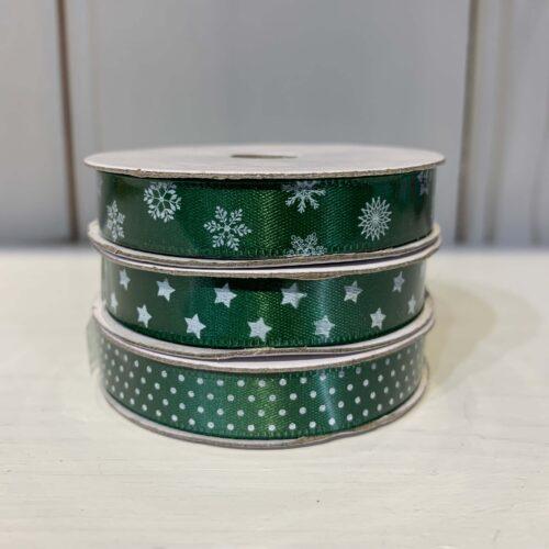 Ribbon Pack: Green Star/Spot/Snowflake