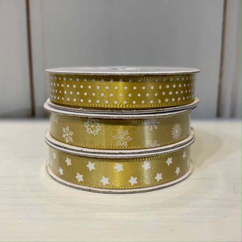 Ribbon Pack: Gold Star/Spot/Snowflake